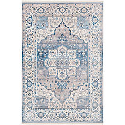 Surya Ephesians Vintage 2' 7 x 9' Runner in Blue/Grey