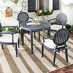 Safavieh Chino 5-Piece Outdoor Dining Set with Cushions in Slate Grey/Beige