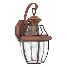Quoizel® Newbury Medium 1-Light Outdoor Fixture with Aged Copper Finish