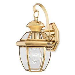 Quoizel® Newbury Small 1-Light Outdoor Wall Fixture in Polished Brass