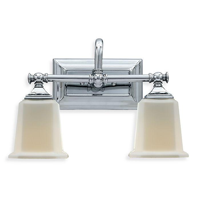 Alternate image 1 for Quoizel®  Nicholas 2-Light Polished Chrome Bath Fixture w/Opal Etched Glass Shades