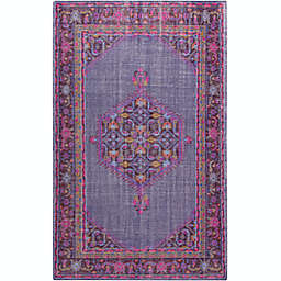 Surya Zahra Medallion 3'6 x 5'6 Area Rug in Purple/Pink