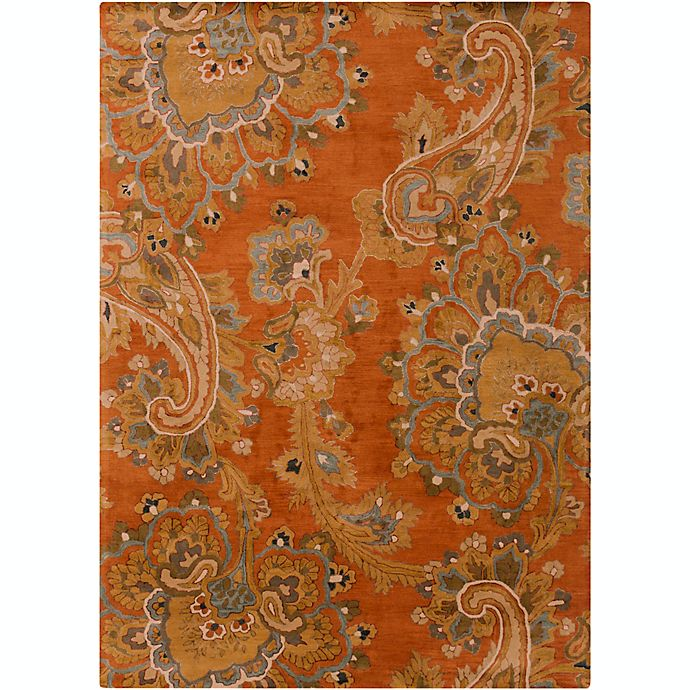 Alternate image 1 for Surya Sea Floral 8' x 11' Hand Tufted Area Rug in Orange/Brown