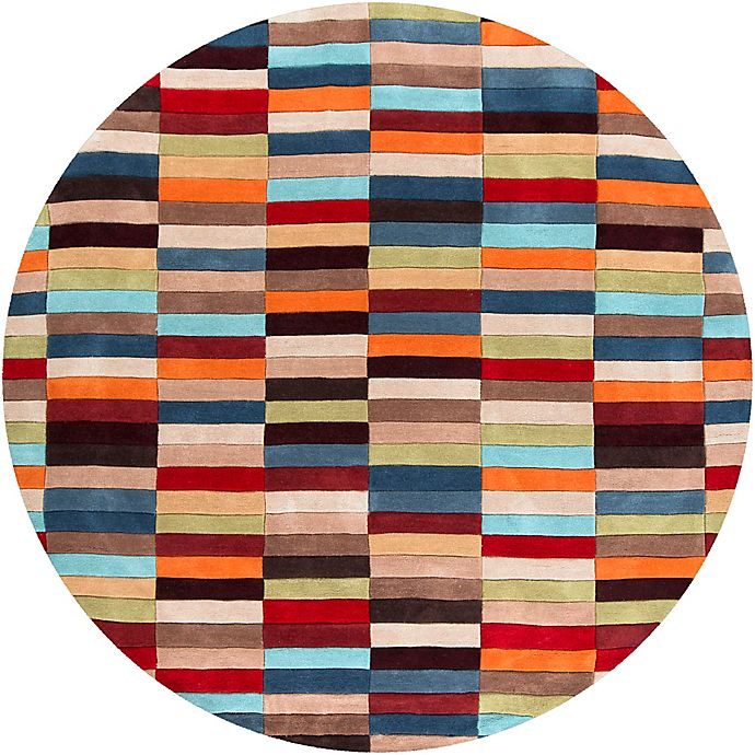 Alternate image 1 for Surya Cosmopolitan Modern 8' Round Handcrafted Area Rug in Red/Orange