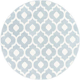 Surya Horizon 7'10 Round Woven Area Rug in Denim/Ivory