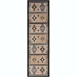 Surya Geometric Diamond Print Rug in Khaki/Black