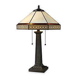 Dimond Lighting Stone Filigree Tiffany Bronze 2-Light Table Lamp