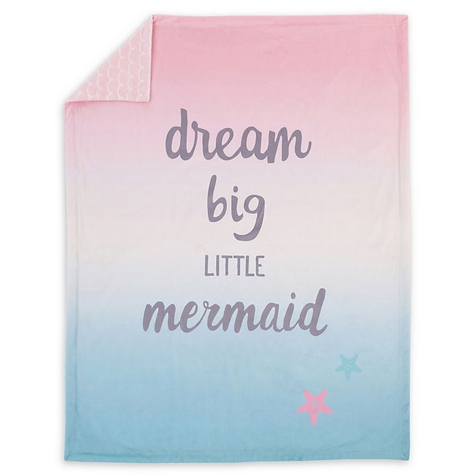 Alternate image 1 for NoJo® Sugar Reef Mermaid Ombré Baby Blanket