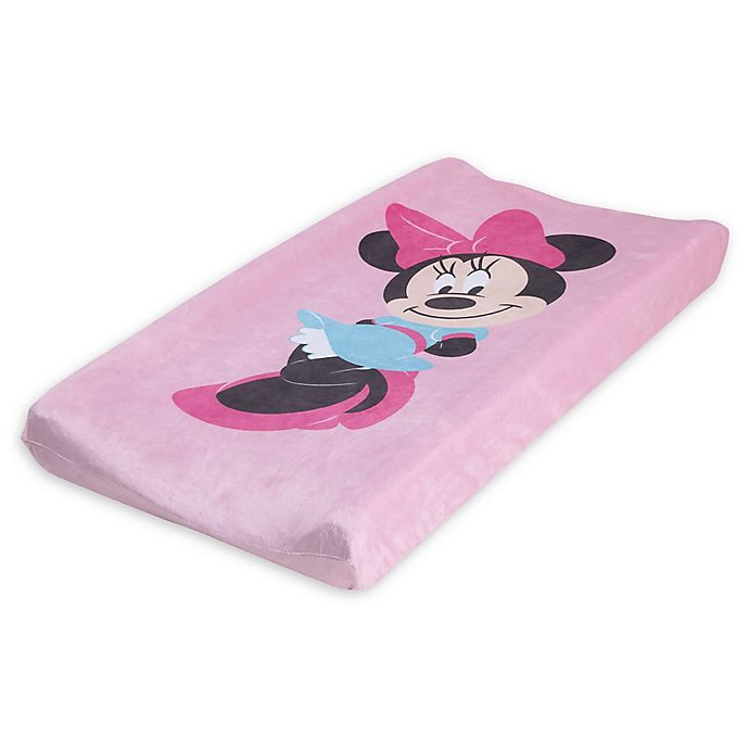 Alternate image 1 for Disney® Minnie Mouse Super Soft Changing Pad Cover in Pink
