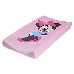 Disney® Minnie Mouse Super Soft Changing Pad Cover in Pink