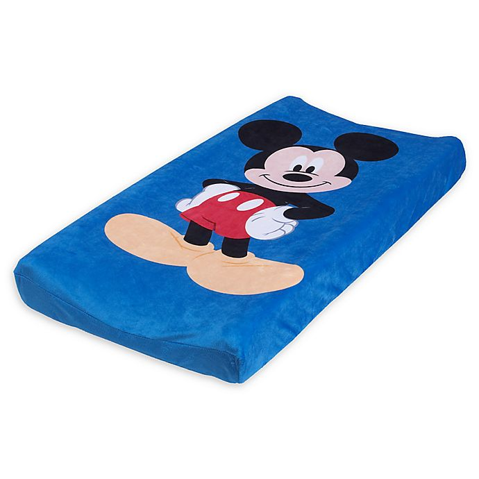 Alternate image 1 for Disney® Mickey Mouse Super Soft Changing Pad Cover in Blue