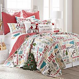 levtex home santa claus lane reversible quilt set - Christmas Bedding Sets
