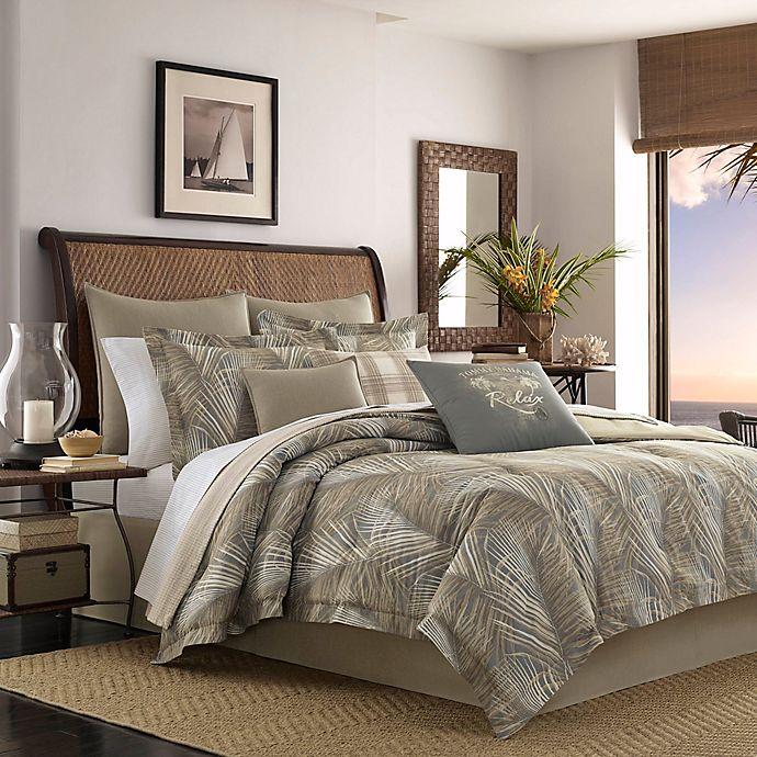 Tommy Bahama Raffia Palms 4-Piece Brown Botanical Cotton California King Comforter Set