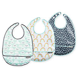 JJ Cole 3-Pack Cloud 9 Catch-All Bib Set