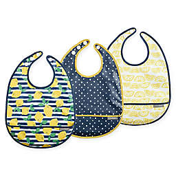 JJ Cole 3-Pack Lemons Catch-All Bib Set