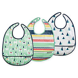 JJ Cole 3-Pack Llama Catch-All Bib Set