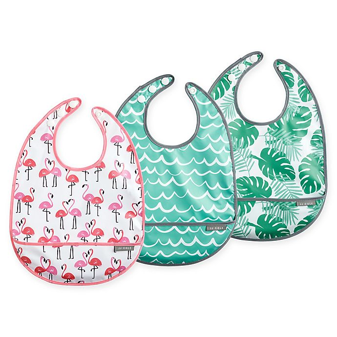 Alternate image 1 for JJ Cole 3-Pack Tropical Catch-All Bib Set