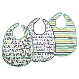 JJ Cole® 3-Pack 50 Shapes of Grey Catch-All Bib Set