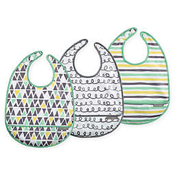 JJ Cole 3-Pack 50 Shapes of Grey Catch-All Bib Set