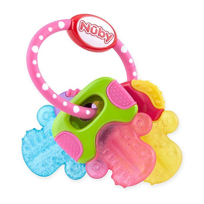 Alternate image 1 for Nuby™ Ice Gel Teether Keys in Pink