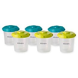BÉABA® Clip 6-Piece 7 oz. Food Storage Container Set in Peacock