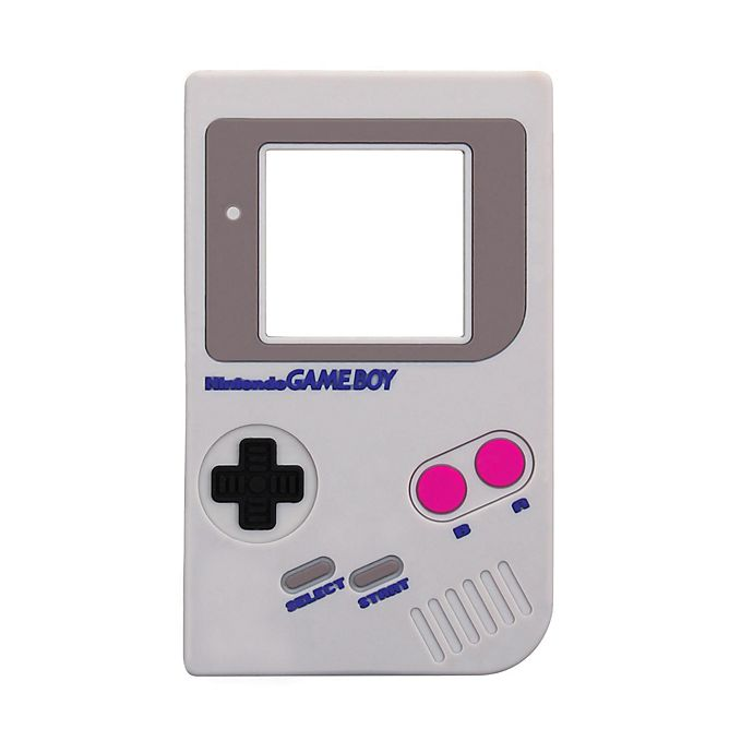 Alternate image 1 for Bumkins® Nintendo Gameboy Silicone Teether in Grey
