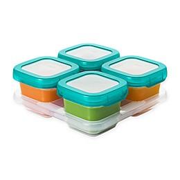 OXO® Tot 6 oz. Food Storage Baby Blocks in Teal (Set of 4)