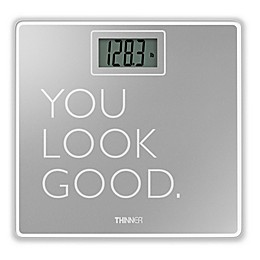 Thinner® by Conair™ Digital Glass Bathroom Scale in Silver