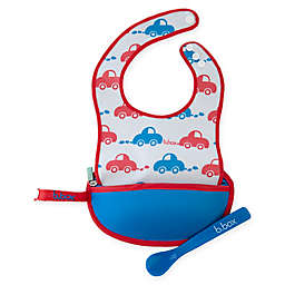 b. box® Beep Beep Travel Bib & Spoon Set