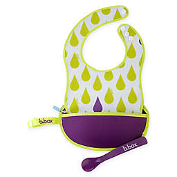 b. box® Splish Splash Travel Bib & Spoon Set
