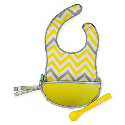 b. box® Mellow Lellow Travel Bib & Spoon Set