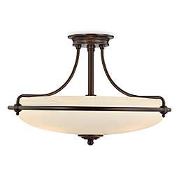 Quoizel® Griffin 4-Light Semi-Flush Light in Bronze