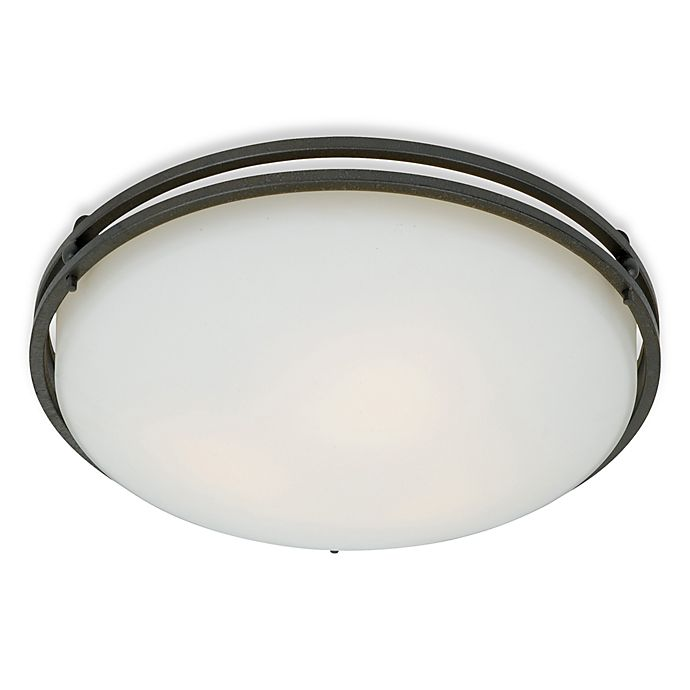 Alternate image 1 for Quoizel® Ozark Flush Mount Light Fixture in Iron Gate