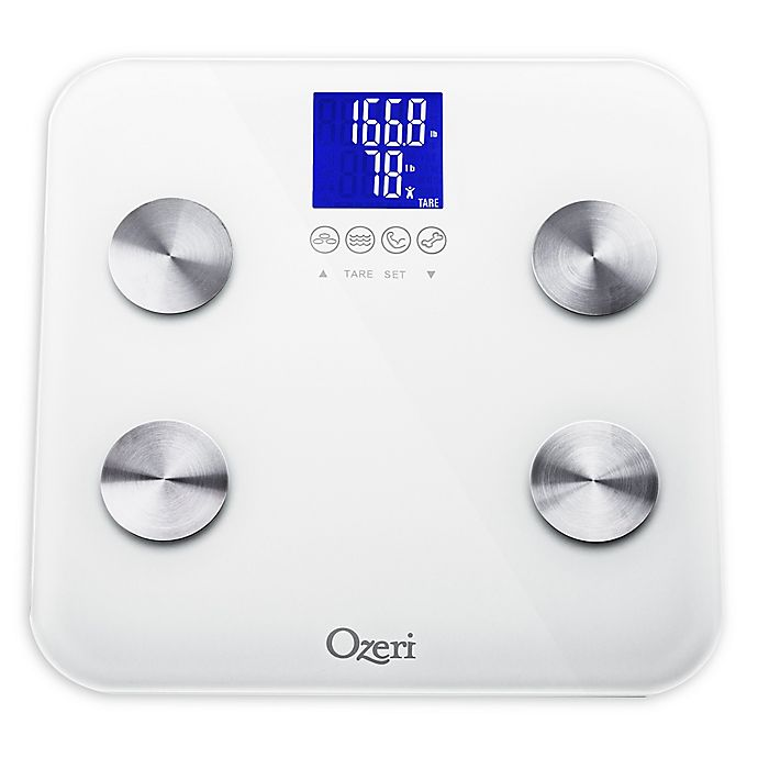 Alternate image 1 for Ozeri® Touch 440 lb. Total Body Bath Scale in White