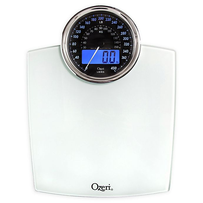 Alternate image 1 for Ozeri® Rev Bathroom Scale with Electro-Mechanical Weight Dial 50 gram Sensor Technology
