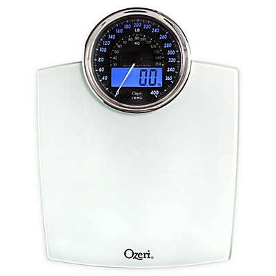 Ozeri® Rev Bathroom Scale with Electro-Mechanical Weight Dial 50 gram Sensor Technology
