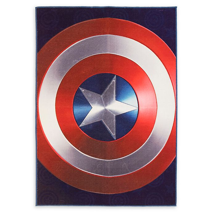 Alternate image 1 for Captain America Shield 4'6 x 6'6 Area Rug