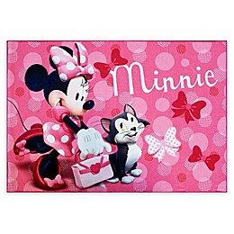 Disney® Minnie Mouse 4'6 x 6'6 Area Rug in Pink