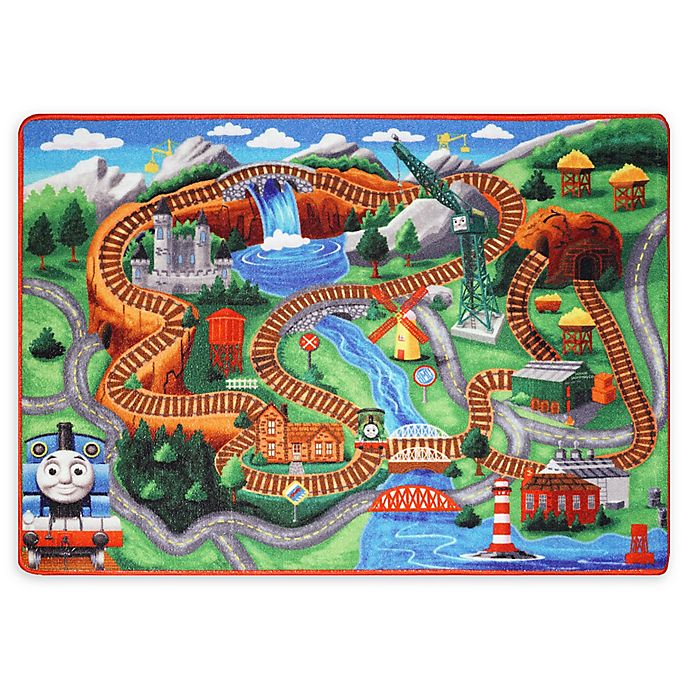 Alternate image 1 for Thomas and Friends 4'6 x 6'6 Jumbo Activity Mat