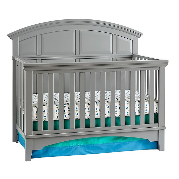 Alternate image 1 for Kolcraft® Brooklyn 4-in-1 Convertible Crib in Grey