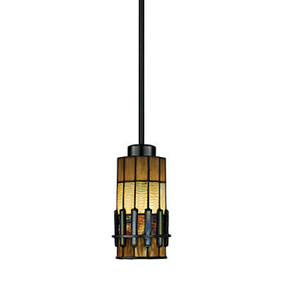 Quoziel® Chastain 1-Light Pendant Lamp with Tiffany Glass Shade