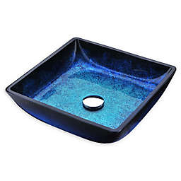 ANZZI Viace Deco-Glass Vessel Sink in Blazing Blue