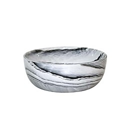 Artisanal Kitchen Supply® Coupe Marbleized Cereal Bowls in Black/White (Set of 4)