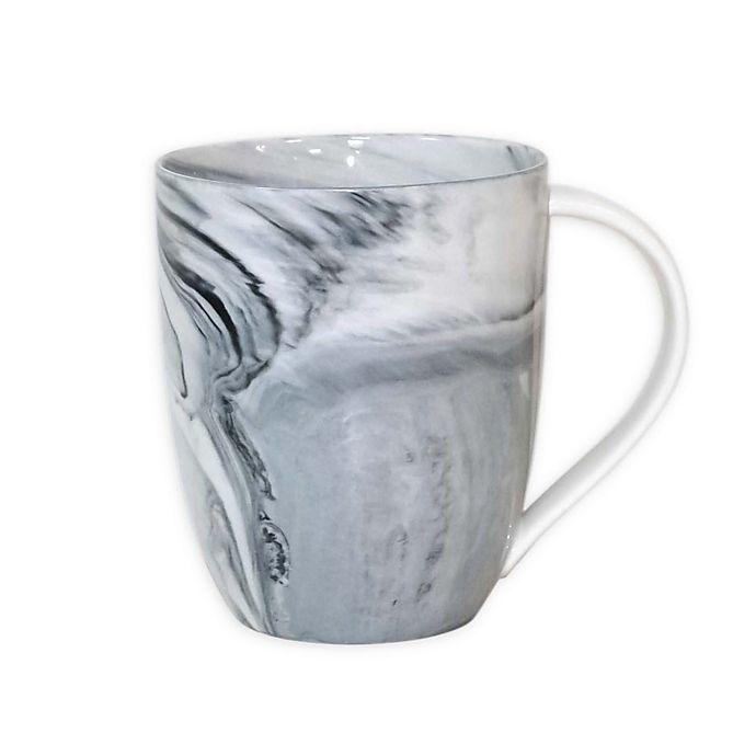 Alternate image 1 for Artisanal Kitchen Supply® Marbleized Mug in Black/White