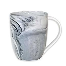 Artisanal Kitchen Supply® Coupe Marbleized Mugs in Black/White (Set of 4)