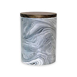Artisanal Kitchen Supply® Coupe Marbleized 50 oz. Canister with Wood Lid