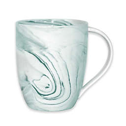 Artisanal Kitchen Supply® Marbleized Mug in Teal/White