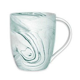 Artisanal Kitchen Supply® Coupe Marbleized Mugs in Teal (Set of 4)