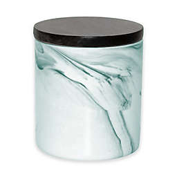 Artisanal Kitchen Supply® Coupe Marbleized 20 oz. Canister with Wood Lid in Teal