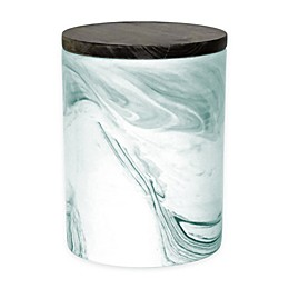 Artisanal Kitchen Supply® Coupe Marbleized 50 oz. Canister with Wood Lid in Teal